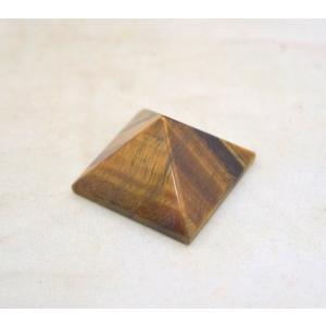 タイガーアイ 虎目石 ピラミッド パワーストーン 天然石置物 ストライプ 小|ryu