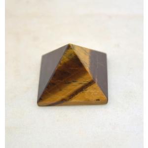 タイガーアイ 虎目石 ピラミッド パワーストーン 天然石置物 暗色 小|ryu