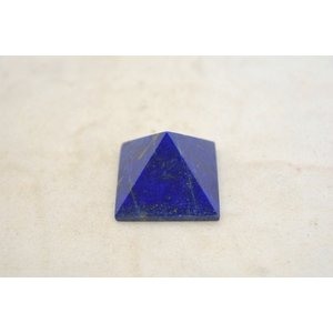 ラピスラズリ 瑠璃石 ピラミッド パワーストーン 天然石置物 濃藍 小|ryu