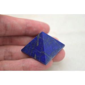 ラピスラズリ 瑠璃石 ピラミッド パワーストーン 天然石置物 濃藍 小|ryu|06