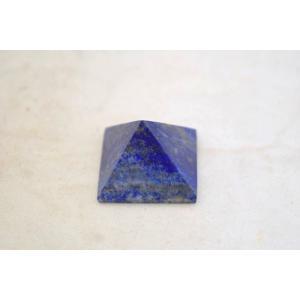 ラピスラズリ 瑠璃石 ピラミッド パワーストーン 天然石置物 雲模様 小|ryu