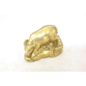 牛 丑 うし 銅製置物 小|ryu