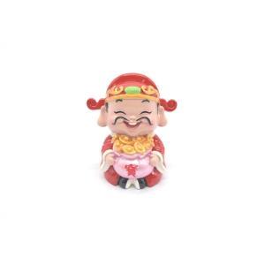 財神様 樹脂製置物 カラフル マスコット人形 7.5cm Aタイプ|ryu