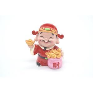財神様 樹脂製置物 カラフル マスコット人形 7.5cm Bタイプ|ryu