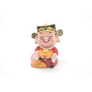 財神様 樹脂製置物 カラフル マスコット人形 7.5cm Cタイプ|ryu