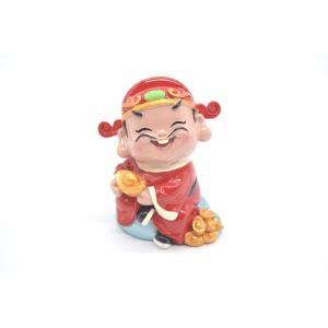 財神様 樹脂製置物 カラフル マスコット人形 7.5cm Dタイプ|ryu