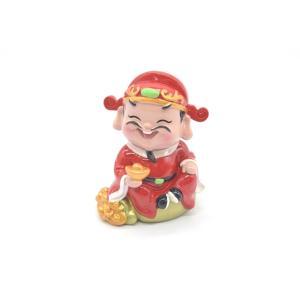 財神様 樹脂製置物 カラフル マスコット人形 7.5cm Eタイプ|ryu