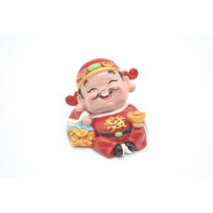 財神様 樹脂製置物 カラフル マスコット人形 7.5cm Fタイプ|ryu
