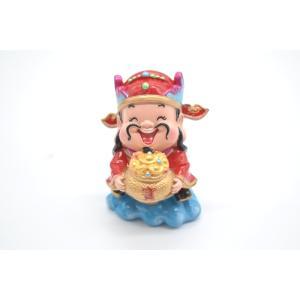 財神 アジアの神々 人形置物 元宝 聚宝盆 樹脂製置物 聚宝盆 中 7cm|ryu