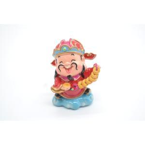 財神 アジアの神々 人形置物 古銭 招財進宝 中 7cm|ryu