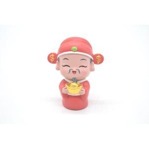 財神 樹脂製置物 マスコット人形 6.5cm|ryu