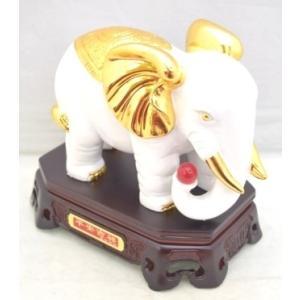 象 ゾウ 樹脂製置物 白 学力向上 幸福|ryu