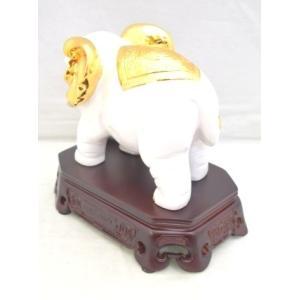 象 ゾウ 樹脂製置物 白 学力向上 幸福|ryu|03