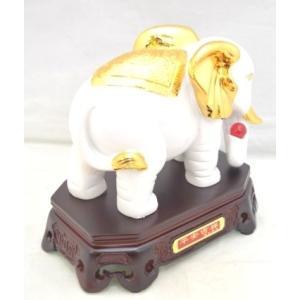 象 ゾウ 樹脂製置物 白 学力向上 幸福|ryu|04