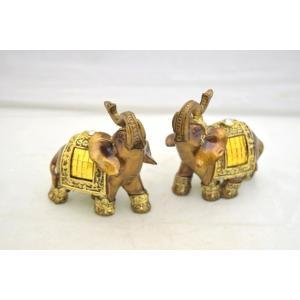 象 ゾウ 樹脂製置物 ペアセット 学力向上 幸福|ryu