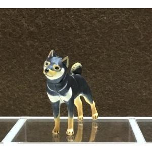∝ フルタ チョコエッグ ペット動物コレクション 002 柴犬 ブラック&タン フィギュア|ryuden