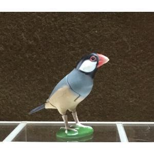 ∝ フルタ チョコエッグ ペット動物コレクション 004 ブンチョウ 桜文鳥 フィギュア|ryuden