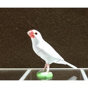 ∝ フルタ チョコエッグ ペット動物コレクション 005 ブンチョウ 白文鳥 フィギュア|ryuden