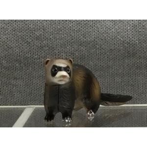 ∝ フルタ チョコエッグ ペット動物コレクション 011 フェレット セーブル フィギュア|ryuden