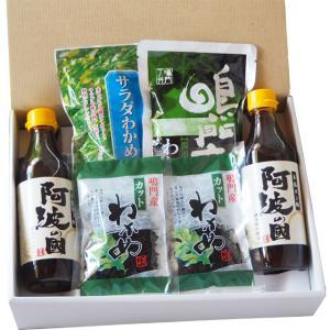 【ギフト】 人気のわかめセット(2) 鳴門わかめ サラダわかめ 塩蔵 カットわかめ 本格ポン酢 のし|ryugu-choi