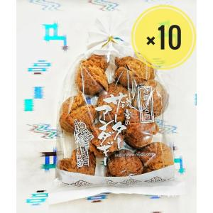 サーターアンダギー 黒糖味10個入 10袋 送料無料|ryugu