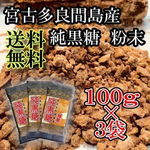 ポイント消化 純黒糖 100g×3袋 黒砂糖 粉末 宮古多良間島産|ryugu