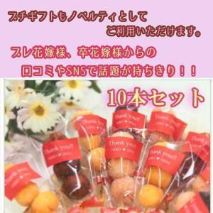 学校の周年記念 文化祭 開店祝い 出産祝い イベント トリオ10本セット お菓子 サーターアンダギー(赤)|ryugu