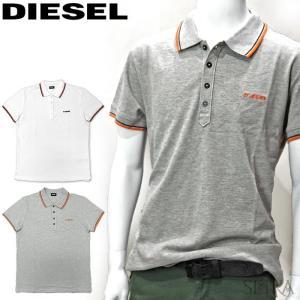 ディーゼル DIESEL ポロシャツ 半袖 00SI29 0MXZA シャツ ホワイト グレー メンズ トップス アパレル (CPT) 父の日 ryus-select