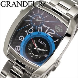 【当店ならお得クーポンあり】グランドール/GRANDEUR メンズ 時計 GSX026W4/シルバー ryus-select