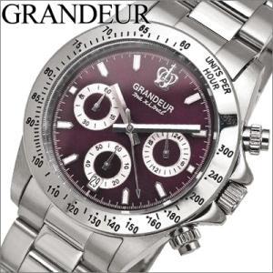 時計 グランドール GRANDEUR メンズ OSC026W2 ワインレッド×シルバー|ryus-select