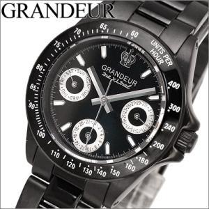 グランドール GRANDEUR レディース 時計 OSC033W1 オールブラック マルチカレンダー|ryus-select