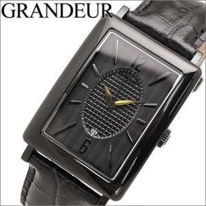 【当店ならお得クーポンあり】グランドール/GRANDEUR メンズ 腕時計 GSX043W2/ブラック ryus-select