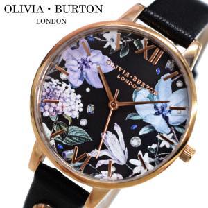 オリビアバートン OLIVIA BURTON 時計 (102)OB16BF23腕時計 レディース 34mm 花柄 ブラック レザー ワンポイントクリスタル ギフト(新生活)|ryus-select