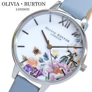 オリビアバートン OLIVIA BURTON 時計 (104)OB16EG114腕時計 レディース 34mm 花柄 チョークブルー レザー ギフト(新生活)|ryus-select