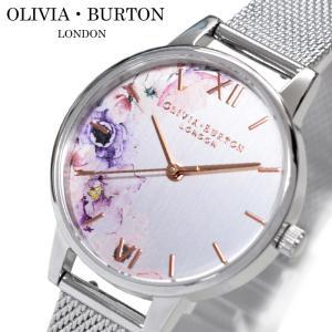 (豪華特典)(5年保証) オリビアバートン OLIVIA BURTON 時計 (110)OB16PP37腕時計 レディース 30mm 花柄 シルバー メッシュ ギフト(新生活)|ryus-select