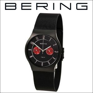(レビューを書いて5年保証) 時計 ベーリング BERING 11939-229 (4) 腕時計 メンズ ブラック ブラック レッド メッシュ 父の日|ryus-select