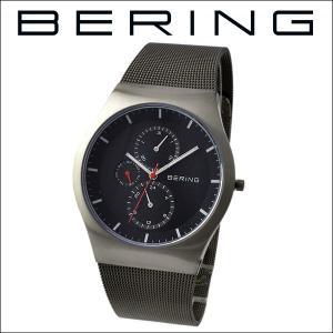 (レビューを書いて5年保証) 時計 ベーリング BERING 11942-372 (6) 腕時計 メンズ ブラック グレー ガンメタル メッシュ 父の日|ryus-select