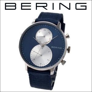 (レビューを書いて5年保証) 時計 ベーリング BERING Classic Series 13242-507 (7) 腕時計 メンズ ネイビー ネイビー ナイロン 父の日|ryus-select