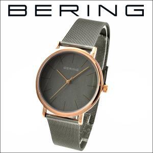 (レビューを書いて5年保証) 時計 ベーリング BERING Classic Series 13436-369 (12) 腕時計 メンズ グレー ピンクゴールド メッシュ 父の日|ryus-select