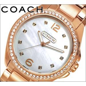 コーチ/COACH  レディース 時計 ホワイトシェル/ピンクゴールド/クリスタル(14501662) ryus-select