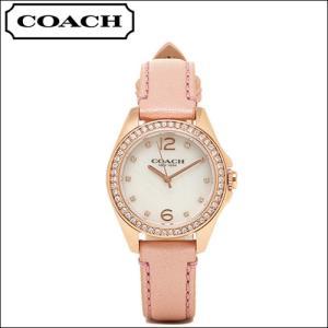 コーチ COACH Tristen Mini (トリステン ミニ) レディース 時計 腕時計 (14502176)ピンク レザー クリスタル ryus-select