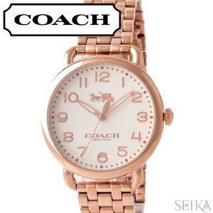 (5年保証) 時計 コーチ COACH デランシー レディース (14502262) オフホワイト ピンクゴールド|ryus-select