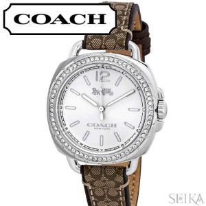 コーチ COACH テイタム レディース 時計  【14502768】シルバー カーキ レザー|ryus-select