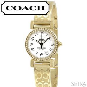 コーチ COACH マディソン レディース 時計  【14502871】ホワイト ゴールド ブレスレット|ryus-select