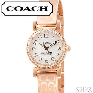 コーチ COACH マディソン レディース 時計  【14502872】ホワイト ピンクゴールド ブレスレット|ryus-select