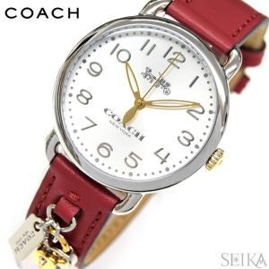 (5年保証) (クリアランス) コーチ 14502970 時計 腕時計 レディース レッド レザー|ryus-select