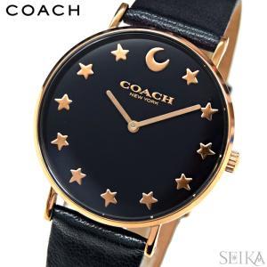 コーチ COACH ペリー 【14503043】レディース 時計ダークネイビー 星 月 レザー|ryus-select