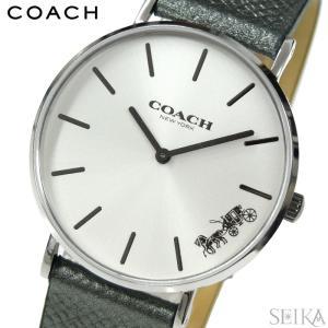 (5年保証) (クリアランス) コーチ COACH ペリー (14503155) レディース 時計シルバー メタリックグレー レザー|ryus-select
