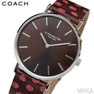 (5年保証) (クリアランス) コーチ COACH ペリー (14503229) レディース 時計ブラウン 花柄 レザー(新生活)|ryus-select