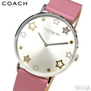 (レビューを書いて5年保証) コーチ COACH 14503243 ペリー レディース 時計 腕時計 ピンク シルバー レザー 星|ryus-select